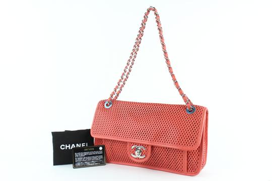 Chanel Perforated Classic Caviar Jumbo Medium Shoulder Bag Image 1