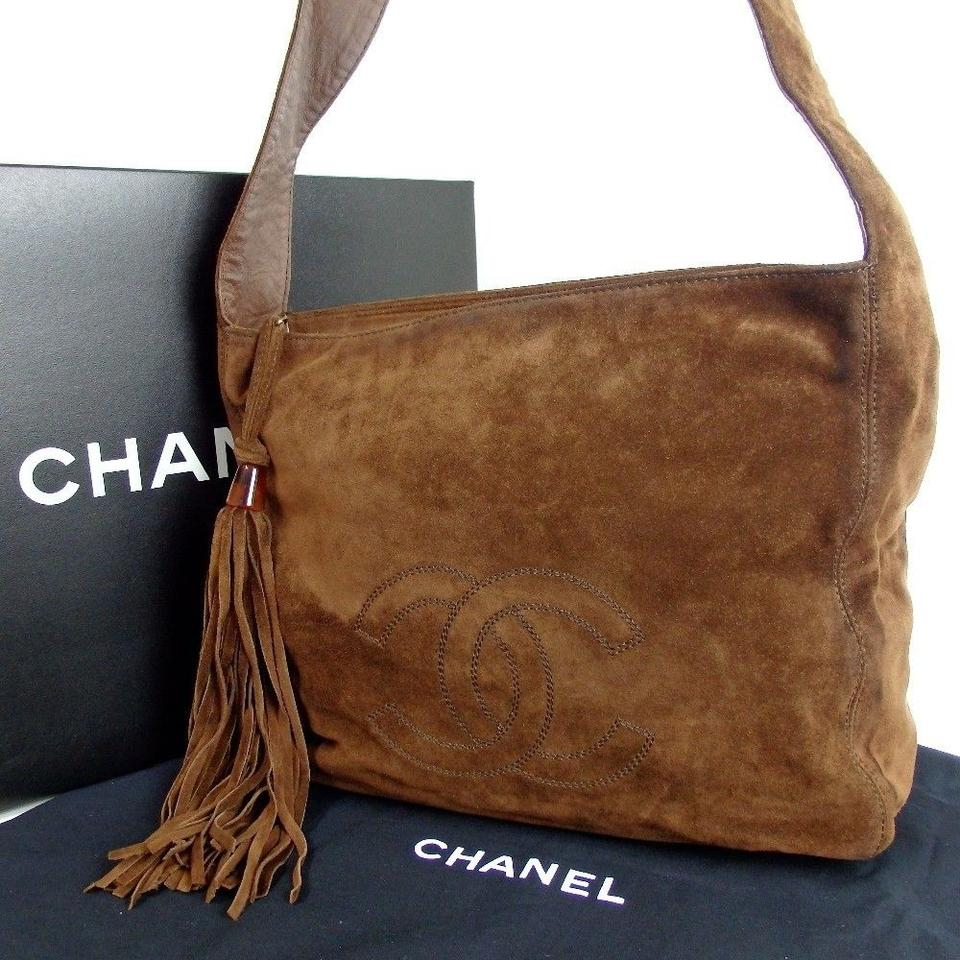 Chanel Brown Cc Logo Fringe Suede Shoulder Bag - Tradesy 5a0b7d578b021