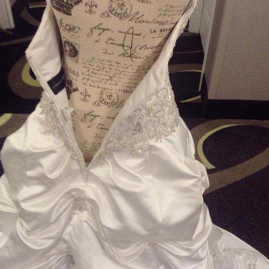 Bridal Exclusives White Polyester R6100 Formal Wedding Dress Size 10 (M) Image 10