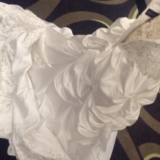 Bridal Exclusives White Polyester R6100 Formal Wedding Dress Size 10 (M) Image 11