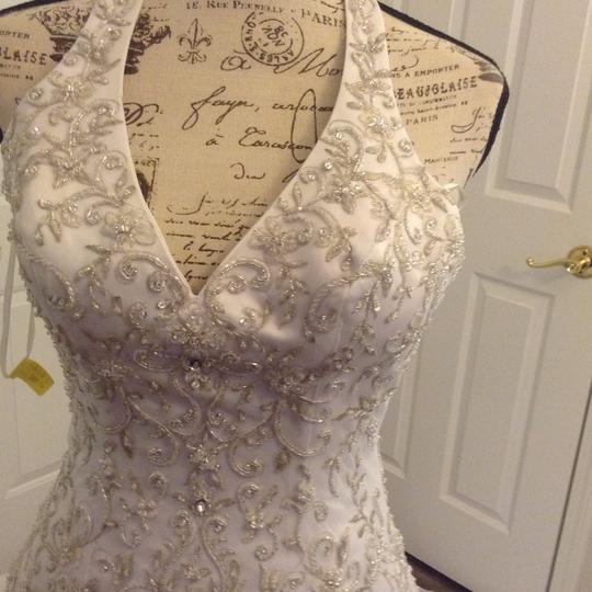 Bridal Exclusives White Polyester R6100 Formal Wedding Dress Size 10 (M) Image 2