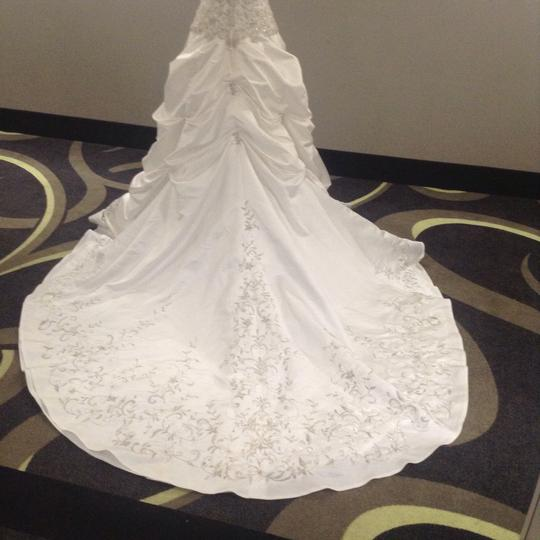 Bridal Exclusives White Polyester R6100 Formal Wedding Dress Size 10 (M) Image 3