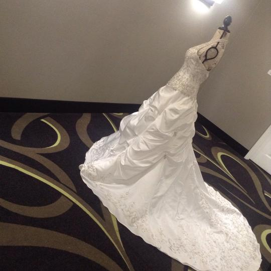 Bridal Exclusives White Polyester R6100 Formal Wedding Dress Size 10 (M) Image 5