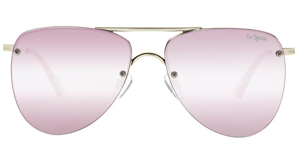 e4ca054be7 Le Specs Gold Blush Prince Mirrored Aviator Sunglasses - Tradesy