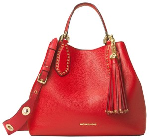 Michael Kors Leather 30s7gbns3l Satchel in Bright Red