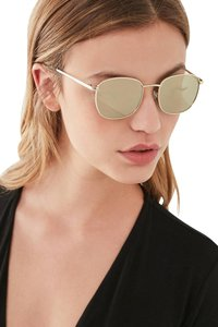 8e3fcd208ad47 Le Specs Silver Mirrored Pharaoh Cat-eye Silver-plated Sunglasses ...