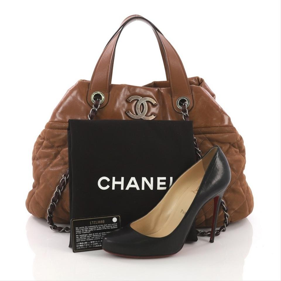 fa9697c76f229b Chanel In The Mix Tote Quilted Iridescent Medium Brown Calfskin ...
