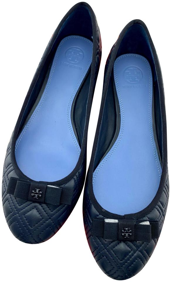 89a317a9bdad3 Tory Burch Navy Marion Quilted Ballet Flats Size US 8 Regular (M