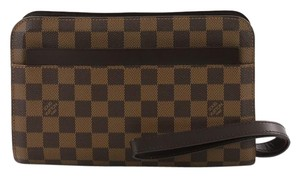 Louis Vuitton Canvas Pochette Wristlet in damier ebene