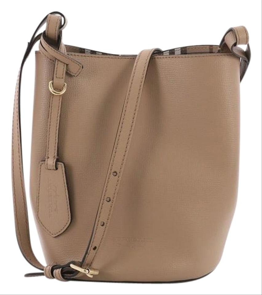e1021716439d Burberry Lorne Bucket Small Tan Leather Shoulder Bag - Tradesy