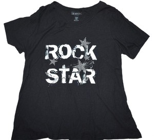 INC International Concepts Rocker Rock Music T Shirt Black