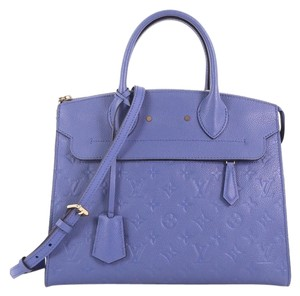 Louis Vuitton Leather Monogram Tote in blue
