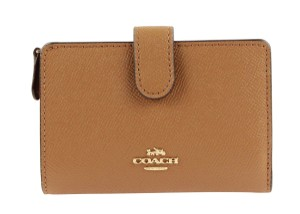 Coach Light Saddle Medium Corner Zip