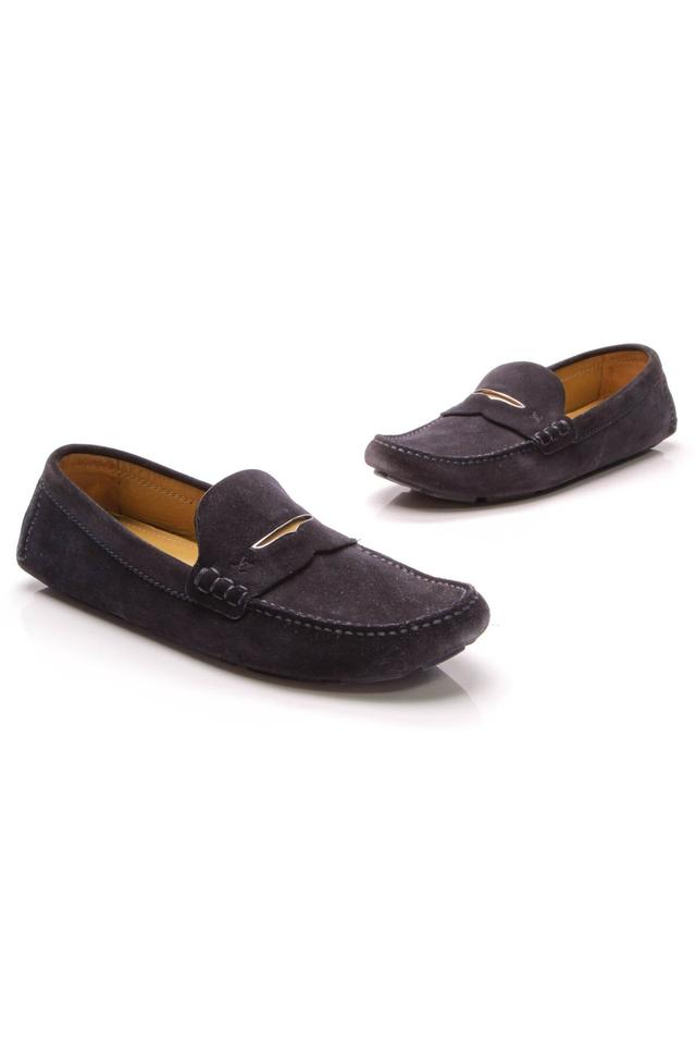 0f6981af8ea4 Louis Vuitton Blue Men s Driving Loafers - Navy Suede Flats. Size  US 8.5  Regular (M ...