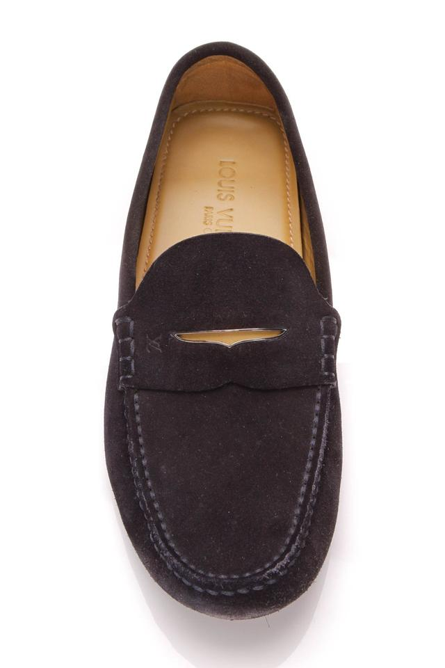 91c7e10243b2 Louis Vuitton Blue Men s Driving Loafers - Navy Suede Flats Size US 8.5  Regular (M