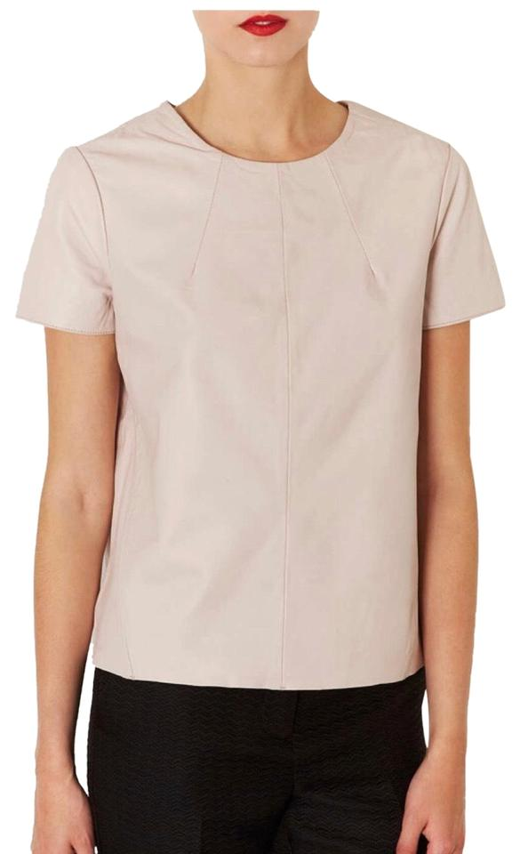 8fbc32c3a7 Topshop Leather Light Pink Top - Tradesy