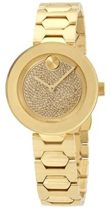 Movado Bold Pave Crystal Dial Ladies Watch
