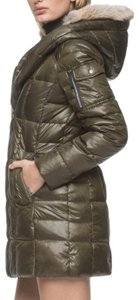 Andrew Marc Asymmetric Zip Uptown Glass Fabric Optional Coyote Trim Extreme Cold Rated Fleece Inner Cuffs Coat