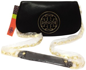 Tory Burch Amanda Foldover Convertible Black Clutch