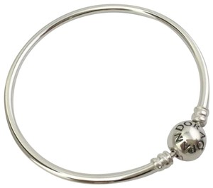 "PANDORA Pandora Sterling Silver Bangle Bracelet 750713, 7.5"" New"