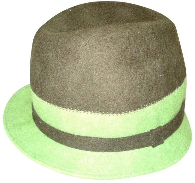 Item - Green Amati Brown Wool Cloche Hat