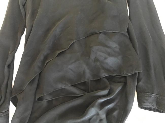 Juan Carlos Obando Silk Draped Top BLACK Image 4