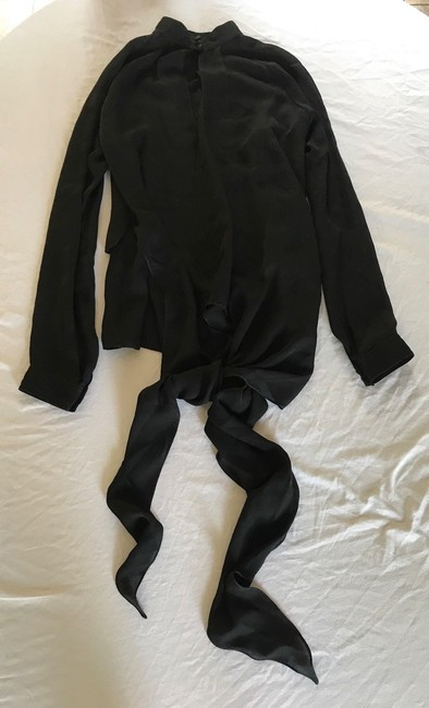 Juan Carlos Obando Silk Draped Top BLACK Image 6