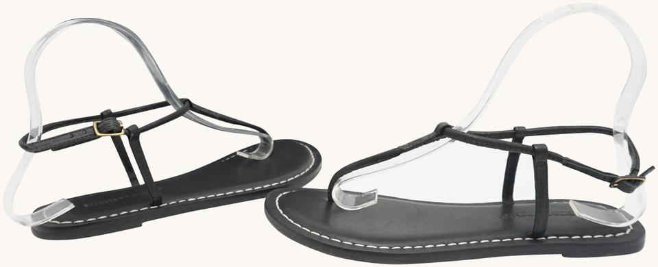 8c67bf87d14 Bernardo Black Lilly Women s Thong Sandals Strappy Leather Flats ...