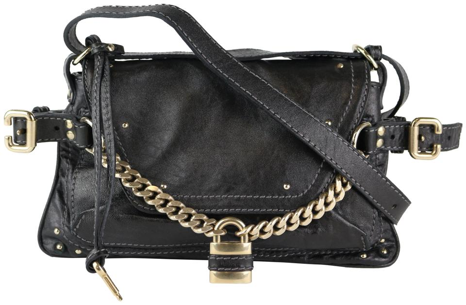 8da19e1c84e6 Chloé Padlock Black Leather Shoulder Bag - Tradesy