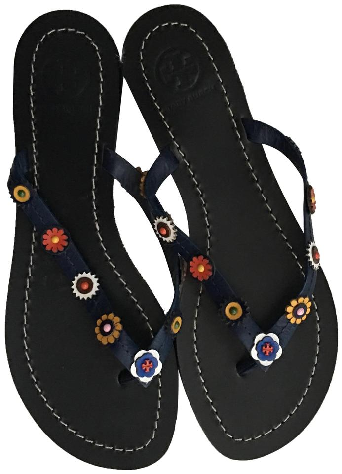 9a1eae488d5 Tory Burch Blue Marguerite Flat Sandals. Size  US 6.5 Regular ...