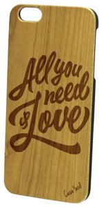 Case Yard NEW Cherry Wood iPhone Case w. All You Need Is Love Logo, iPhone 7