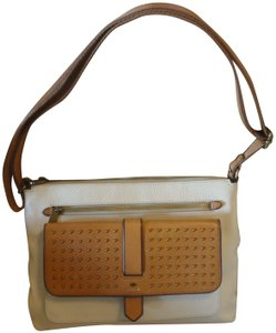 Fossil Pebble Leather Studded Cross Body Bag