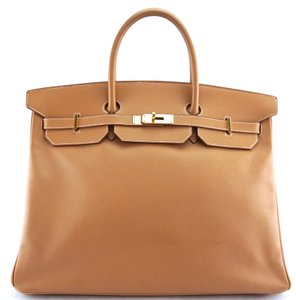 Hermès Birkin Classic Tote Birkin 40 Satchel in Natural Courchevel