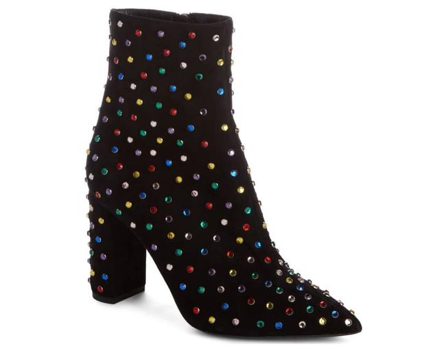 Saint Laurent Black Suede Betty Crystal Stud Pointy Toe In Boots/Booties Size EU 38.5 (Approx. US 8.5) Regular (M, B) Saint Laurent Black Suede Betty Crystal Stud Pointy Toe In Boots/Booties Size EU 38.5 (Approx. US 8.5) Regular (M, B) Image 1