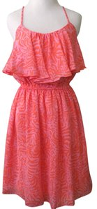 Lilly Pulitzer short dress Coral Flounce Flowy Bright Light on Tradesy