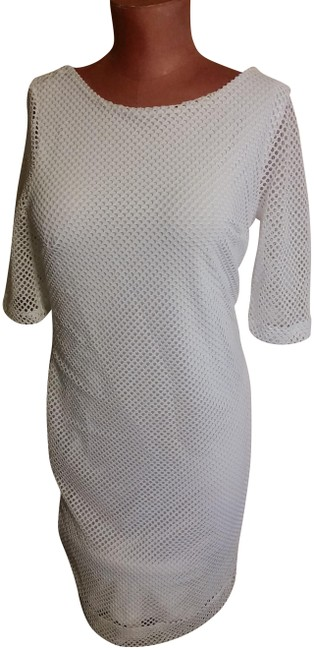 Item - White No Mid-length Short Casual Dress Size 10 (M)