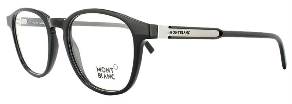 Montblanc Shiny Black Frame & Demo Customisable Lens Mb0632 001 Round Style  Unisex Eyeglasses 72% off retail