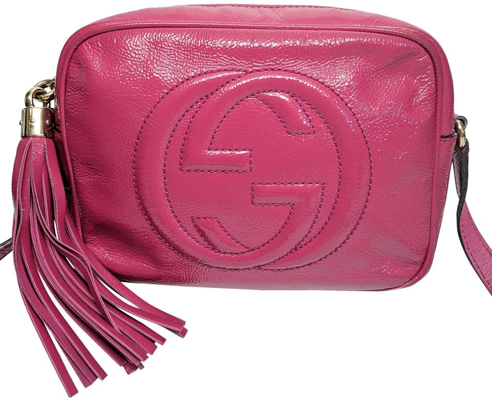 f079d6a22be Gucci Soho Disco Pink Patent Leather Cross Body Bag - Tradesy