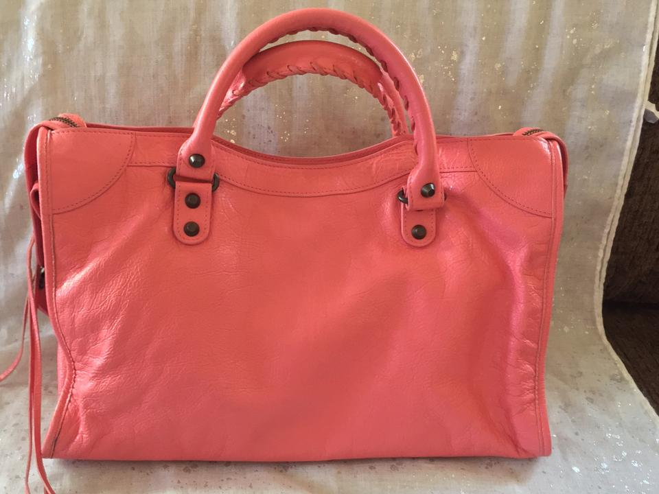 Balenciaga Rose Jaipur City Pink Leather Satchel - Tradesy 49eb80a102776