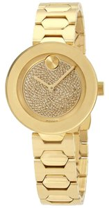 Movado Pave Crystal Dial Ladies Watch