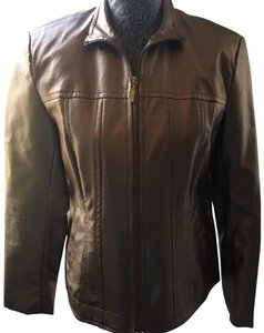 Erin London Bronze/Gold Leather Jacket