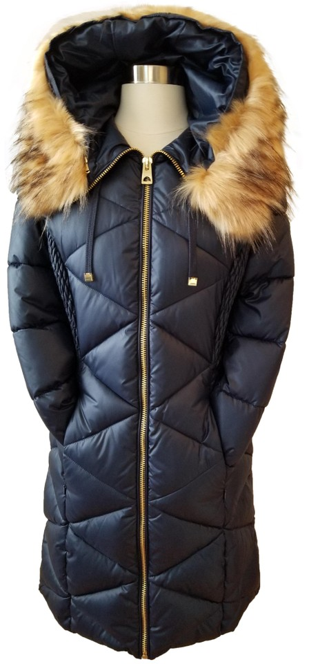 807f21f58a71 Guess Navy Multi Women s Shinny Diag Quilted Puffer Jacket Small ...