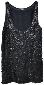 Express Sequin Sparkly Night Out Party Top Black