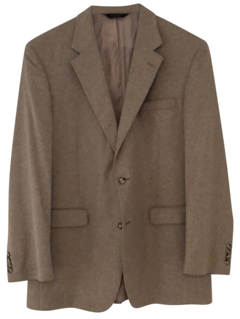 Item - Oatmeal Cashmere Sport Coat Pant Suit Size OS (one size)