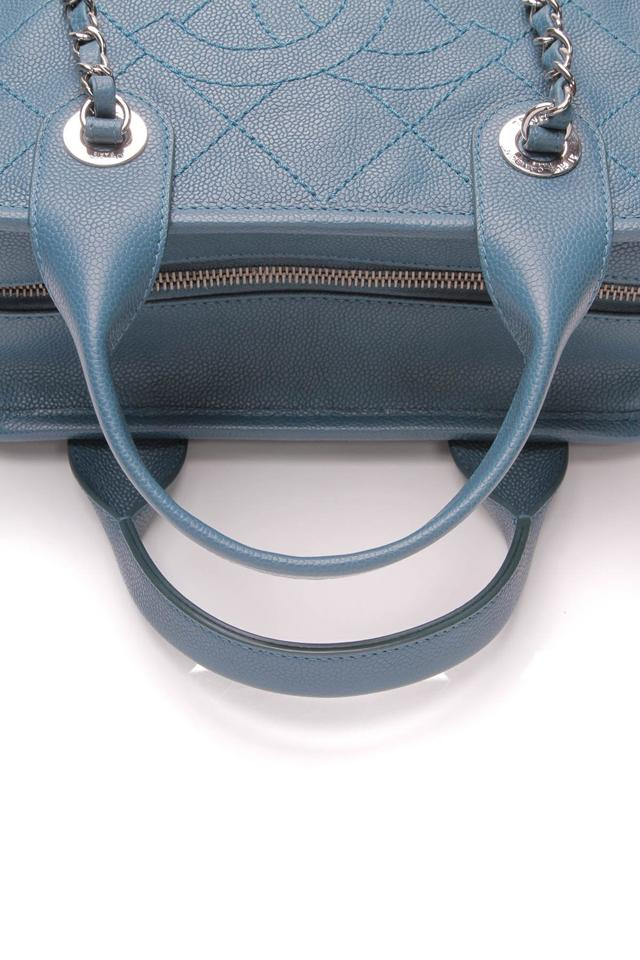 876f9eb03f35 Chanel Bowling Deauville Small - Quilted Caviar Blue Leather Shoulder Bag -  Tradesy