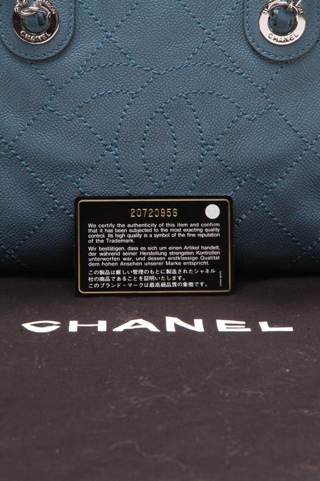 548906420288 Chanel Bowling Deauville Small - Quilted Caviar Blue Leather ...