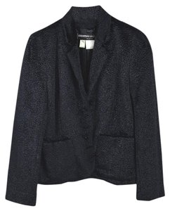 Christian Aujard Fall Holiday Winter Velvet Night Out Blue Blazer