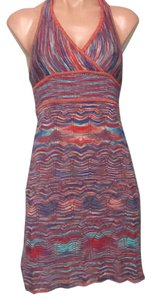 Guess short dress red and blue on Tradesy