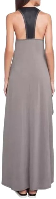 Item - Gray Black Audra Faux Leather Long Casual Maxi Dress Size 4 (S)