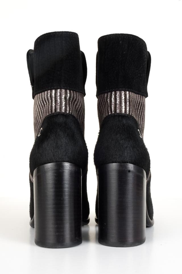 afb45874 Chanel Black Calfhair and Suede Ankle Boots/Booties Size EU 36.5 (Approx.  US 6.5) Regular (M, B) 35% off retail